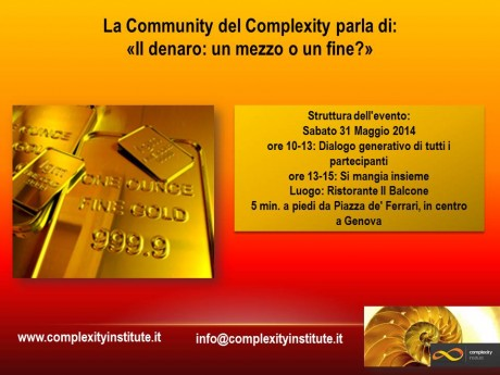 La Community del Complexity… parla di denaro!